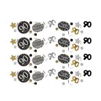 Gold Sparkling Celebration 90th Confetti 34g - 12 PC