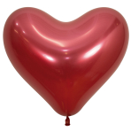 "Reflex Crystal Red Heart 915 Latex Balloons 14""/35cm - 50 PC"
