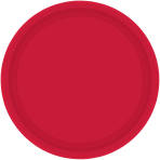 Apple Red Paper Plates - 17.7cm - 12 PKG/8