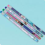 Frozen Pencils with Erasers - 4 mixed designs - 6 PKG/12