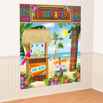 Tiki Scene Setters Wall Decorating Kits - 9 PKG/5
