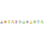 Baby Shower Autograph Garlands 4.57m - 6 PKG/24