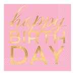 Confetti Fun Happy Birthday Hot Stamped Luncheon Napkins 33cm - 12 PKG/16