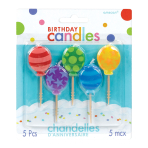 Pink Balloon Candles 3.1cm - 12 PKG/5