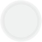 Frosty White Paper Plates 18cm - 6 PKG/20