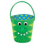 Easter Dinosaur Felt Covered Baskets - 3 PC