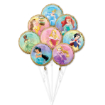Princess Once Upon A Time Foil Balloon Bouquets P75 - 3 PC