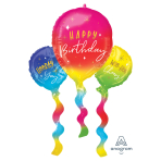 "Birthday Fun Balloons SuperShape Foil Balloons 26""/66cm w x 36""/91cm h P35 - 5 PC"