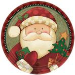 Cosy Santa Paper Plates 22.8cm - 12 PKG/8