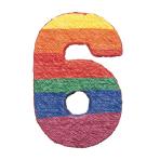 Numbers 6 Pinatas - 4 PC