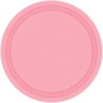 New Pink Paper Plates 23cm - 6 PKG/20