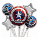 Captain Amerca Winter Bouquet Foil Balloons - P75 - 3 PC