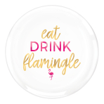 Aloha Hot Stamped Round Plastic Platters 35cm - 9 PC