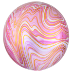 Pink Marblez Orbz XL Packaged Foil Balloons G20 - 5 PC