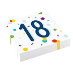 Confetti Birthday 18th Birthday Luncheon Napkins 33cm - 10 PKG/20
