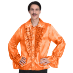 Satin Orange Shirt - Small Size - 1 PC