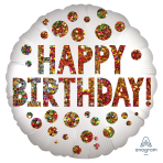 Satin Infused Birthday Sequins Standard S40 - 5 PC