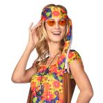 Orange Hippie Heart Glasses - 1 PC