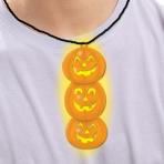 Glow in the Dark Pumpkins Necklace 6.3cm - 24 PKG
