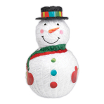 Snowman Pinatas - 4 PC