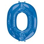"""Letter O Blue SuperShape Foil Balloons 34""""/""""86cm P50 - 5 PC"""
