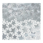 Silver Star Confetti 70g - 12 PC