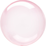 "Crystal Clearz Dark Pink Packaged Balloons 18""/46cm S40 - 5 PC"