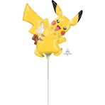 Pikachu Mini Shape Foil Balloons A30 - 5 PC