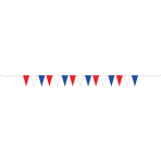 GB Red White & Blue Plastic Pennant Bunting 10m - 6 PC