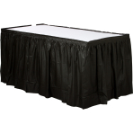 Black Plastic Table Skirts 4.26m x 73cm - 6 PC