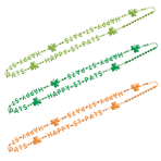 St Patrick's Day Bead Necklace 86cm - 12 PKG/6