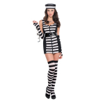 Adults Guilty as Charged Prisoner Costume- Size 10-12- 1 PC
