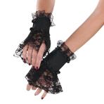 Adults Gothic Lace Cuffs - 3 PC