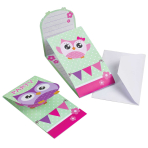 Owls Invitations & Envelopes - 10 PKG/8
