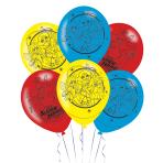 """DC Super Hero Girls 4 Sided Latex Balloons 11""""/28cm - 6 PKG/6"""