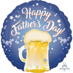 Happy Father's Day Beer Mug Standard HX Foil Balloons S40 - 5 PC