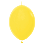 "Fashion Colour Link-O-Loon Solid Yellow 020 Latex Balloons 6""/15cm - 100 PC"