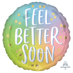 Feel Better Soon Ombre Standard Foil Balloons S40 - 5 PC