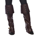 Deluxe Brown Boot Covers - 6 PC
