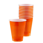Orange Peel Plastic Cups 473ml - 20 PKG/50