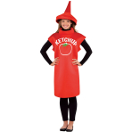 Adults Ketchup Bottle Costume - Size Standard - 1 PC