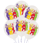 "Teletubbies 4 Colour Latex Balloons 11""/28cm - 6 PKG/6"