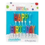 HAPPY BIRTHDAY Letters Colour Candles 3.4cm - 12 PKG/13