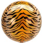 Animalz Tiger Print Orbz Foil Balloons G20 - 5 PC