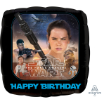 Star Wars The Force Awakens Happy Birthday Standard Foil Balloons S60 - 5 PC