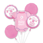 Shower with Love Girl Foil Bouquet Balloons P75 - 3 PC