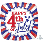 4th of July Patriotic Standard Foil Balloons S40 - 5 PC