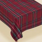 Plaid Printed Fabric Table Covers 1.52m x 2.13m - 4 PC