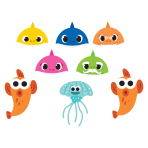 Baby Shark Paper Masks - 6 PKG/8