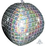 "Disco Ball Holographic UltraShape Foil Balloons 15""/38cm w x 15""/38cm h P45 - 5 PC"
